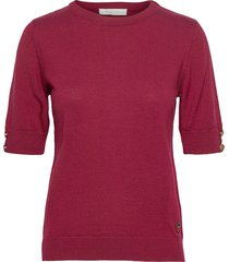 lucca top t-shirts & tops knitted t-shirts/tops rood busnel