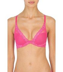 natori feathers bra, women's, pink, size 32dd natori