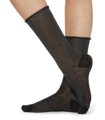 calzedonia - glittery socks, one size, black, women