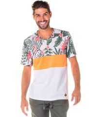 camiseta masculina floral tangerine estampa sublimã¡tica - area verde - multicolorido - masculino - dafiti