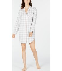 charter club cotton flannel sleep shirt, created for macy's