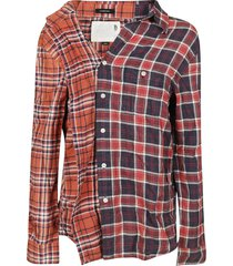 r13 checked print shirt
