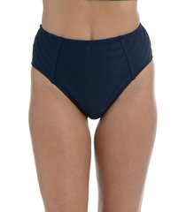 la blanca linea high waist bikini bottoms, size 16 in indigo at nordstrom