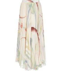 etro foliage print pleated skirt