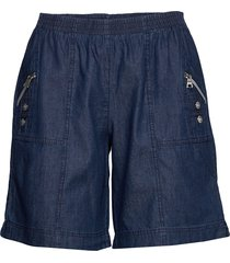 sc-akila chambrey bermudashorts shorts blå soyaconcept