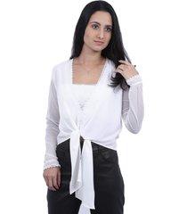 blusa hava nice com top branca