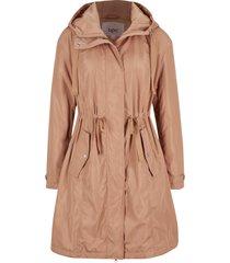 giacca ampia con cappuccio e imbottitura leggera (marrone) - bpc bonprix collection