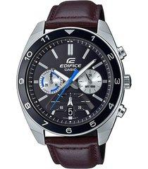 reloj casio efv590l-1avudf marrón cuero