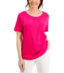 karen scott cotton top, created for macy's