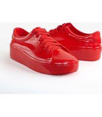 tenis  rojo kclass top r002