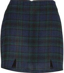 double slit kort kjol multi/mönstrad hollister