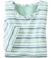 t-shirt met strepen van hennep en bio-katoen, mint xxl