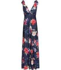 abito lungo a fiori (blu) - bodyflirt boutique