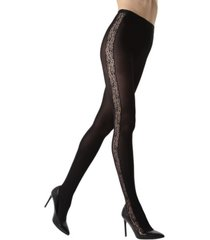 lace inset opaque women's tights