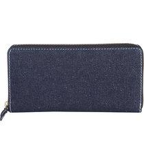 comme des garçons designer wallets, zip around denim wallet