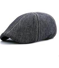 uomo retro berretto grigio invernale in cotone con visiera regolabile berretto da newsboy gorras