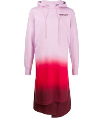 ambush gradient hoodie dress - pink
