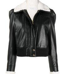 philosophy di lorenzo serafini logo-print aviator jacket - black
