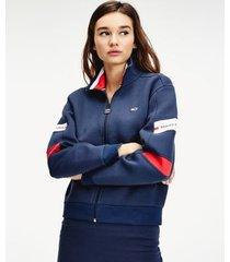 tommy hilfiger women's batwing track jacket twilight navy - xs