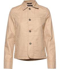 shirt jacket, slim fit, shirt colla zomerjas dunne jas beige marc o'polo