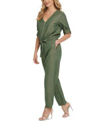 dkny foundation long-sleeve jumpsuit