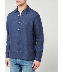 a.p.c. men's chemise vincent shirt - marine - xxl