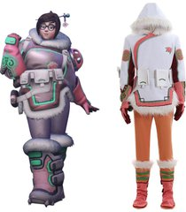 overwatch snow plum mei cosplay costume women outfit