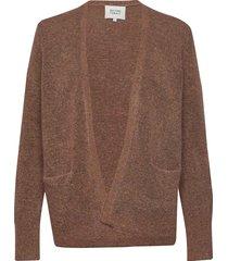 brook knit new short cardigan stickad tröja cardigan brun second female