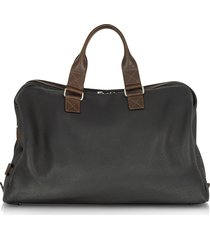 chiarugi designer men's bags, black and brown genuine leather weekender
