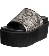 sandalia cuero suiza gris exotica