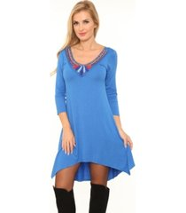 white mark women's sol embellished tunic top