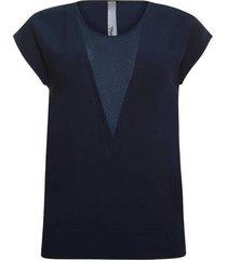 poools donkerblauw v-neck t-shirt 913219