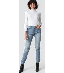 calvin klein mid rise slim jeans - blue