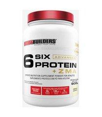 6 six protein advanced c/ zma pote 900g baunilha - bodybuilders
