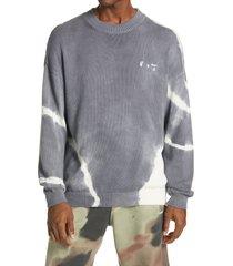 men's off-white tie dye logo cotton sweater