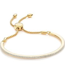 gold fiji skinny bar friendship chain bracelet diamond