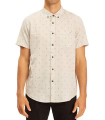billabong men's all day slim fit short sleeve button-down shirt, size xx-large in chino at nordstrom