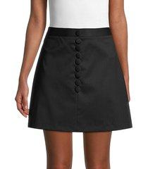 redvalentino women's virgin wool a-line mini skirt - nero - size 44 (12)