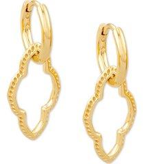 kendra scott medallion charm huggie hoop earrings