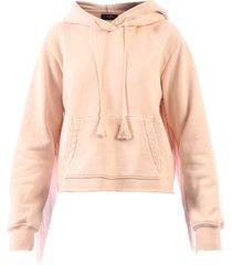 amiri hoodie fringes pink