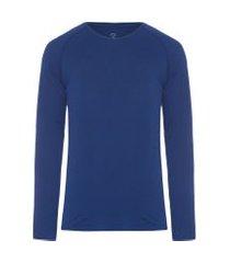 t-shirt masculina raglan pima berlim regular fit - azul