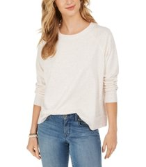 style & co speckled sweatshirt, created for macy's