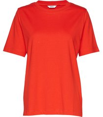 enbeverly ss tee 5310 t-shirts & tops short-sleeved röd envii