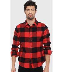 camisa ellus rojo - calce regular