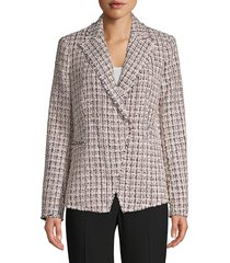 elie tahari jezebel tweed jacket - size 0