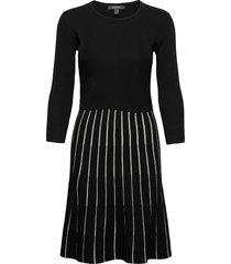 dresses flat knitted kort klänning grå esprit collection