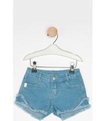 shorts jeans express docinho azul