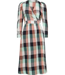 donna puff dress knälång klänning multi/mönstrad storm & marie