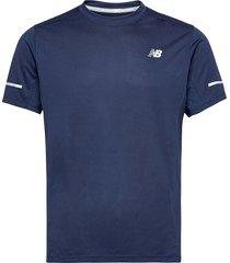 core run tee t-shirts short-sleeved blå new balance