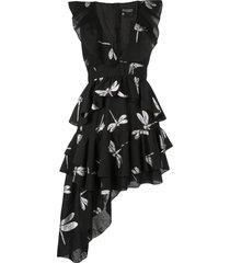 cynthia rowley jetset dragonfly mini dress - black